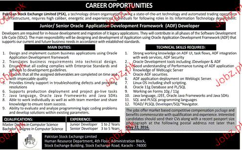 Junior / Senior Oracle Application Developer Job Opportunity