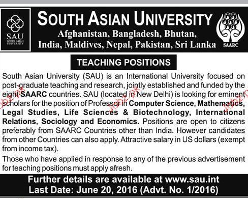 Teaching Staff Job in South Asian University