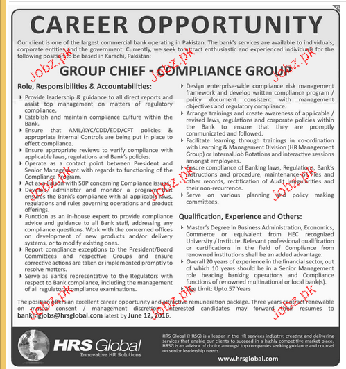 Group Chief Job Opportunity