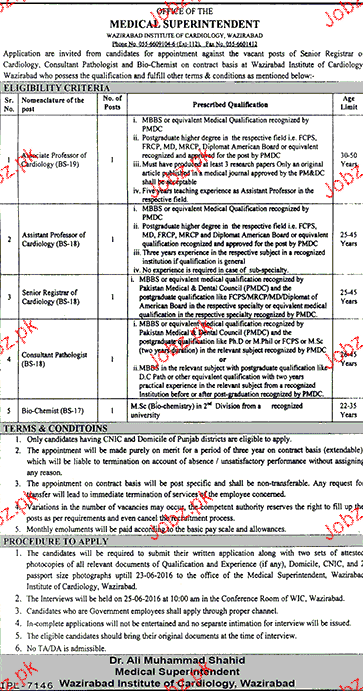 Associate Professors, Senior Registrar Job opportunity