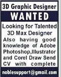 3D Max   Designers Job Opportunity
