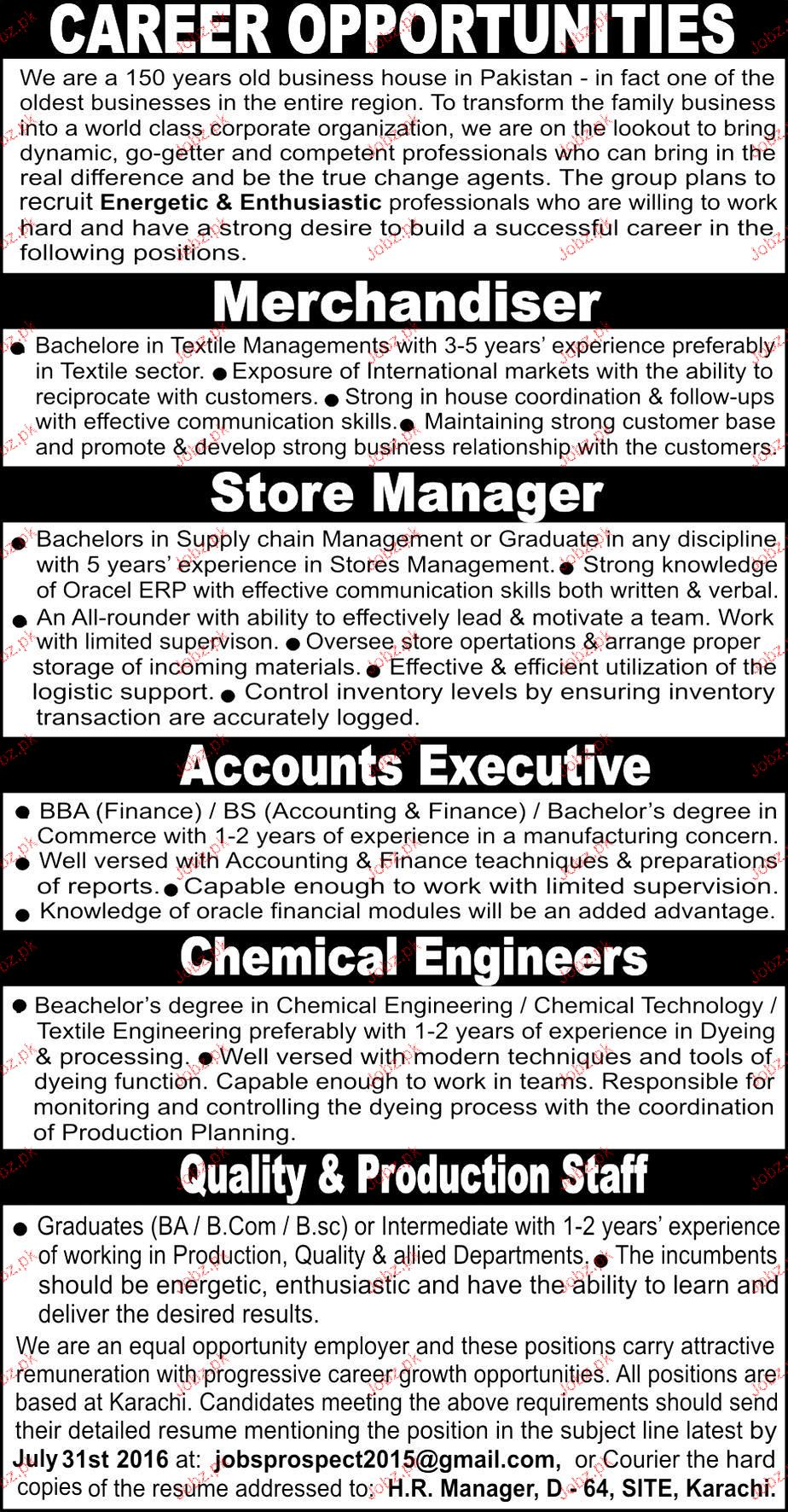 Merchandisers, Store Manager Job Opportunity