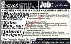 Marketing Manager, Sales Men Job Opportunity