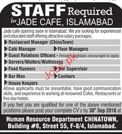 Restaurant Manager, Guest Relation Officers Job Opportunity