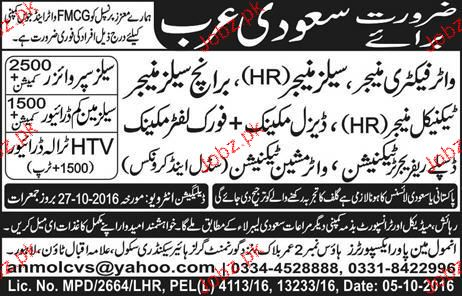 Water Factory Manager, Sales Manager Job Opportunity