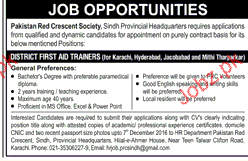 District First Aid Trainers Job Opportunity