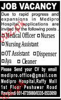 Nursing Assistants, Medical Officers Job Opportunity