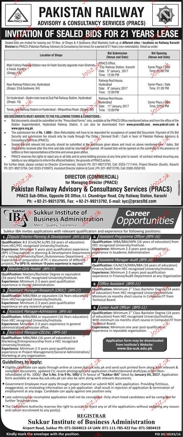 Deputy Directors, Assistant Programme Officers Job IBA