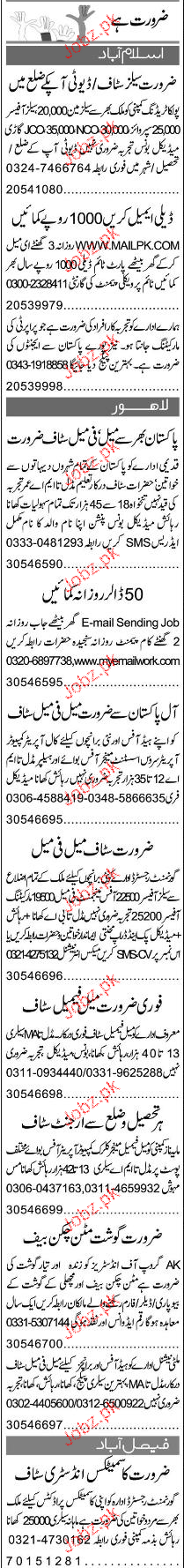 Sales Officers, Sales Men and Sales Supervisors Wanted