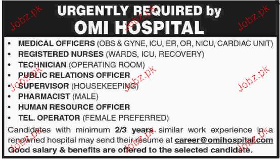 Medical Officers, Registered Nurses, Supervisor Wanted