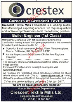 Boiler Engineers Job Opportunity