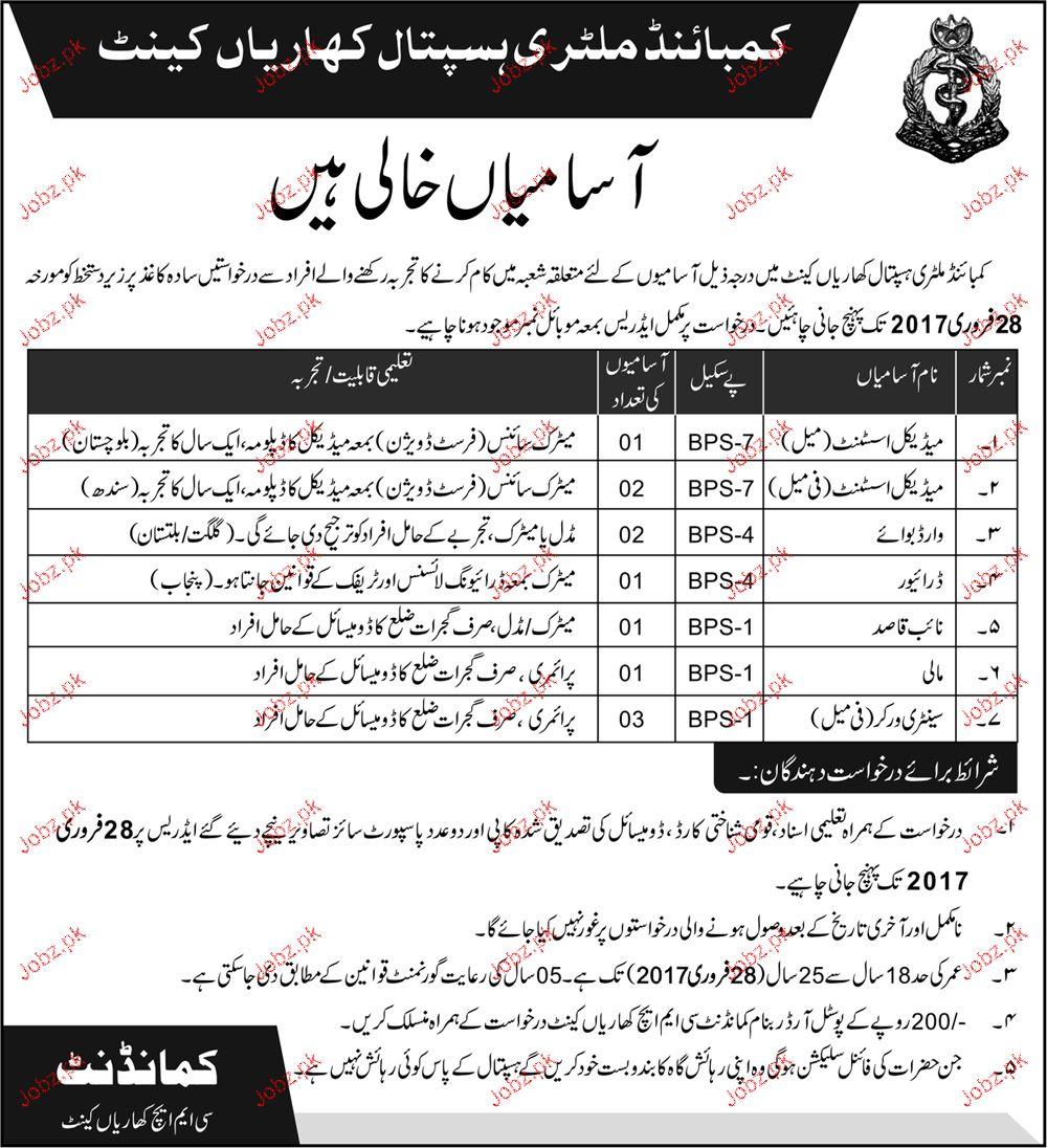 Medical Assistants, Ward Boys, Drivers and Naib Qasid Wanted