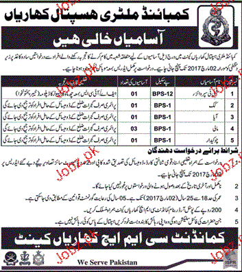 IT Supervisor, Cook, Aya and Chawkidars Job in CMH