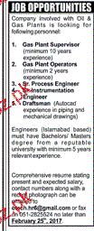 Gas Plant Supervisors, Gas Plant Operators Job Opportunity