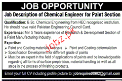 Chemical Engineers Job Opportunity