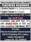 Teachers Job in Telecom Foundation School System