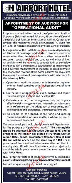 Auditor For Operational Audit Job Opportunity