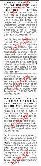 Supervisors and Chemical Engineers Job Opportunity
