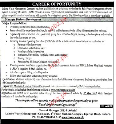 Manger Business Development Job Opportunity