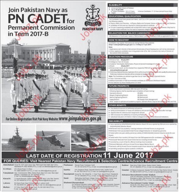 Commission in Pakistan Navy Join Pak Navy joinpaknavy.gov.pk