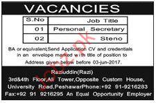 Personal Seceratary jobs In Raziuddin Firm