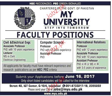 International Relations Professors Job Opportunity