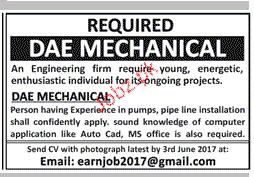 DAE Mechanical Job Opportunity