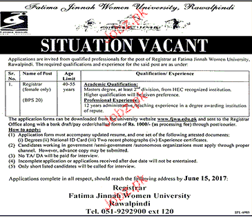Fatima Jinnah Women University FJWU
