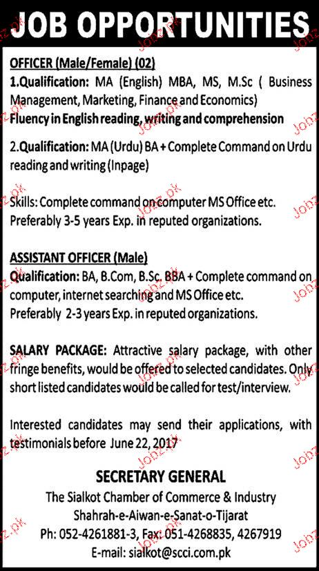 Male / Female Officers, Male Assistant Officers Wanted