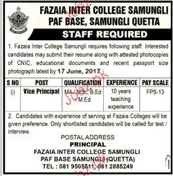Fazaia Inter College Samungli PAF Base