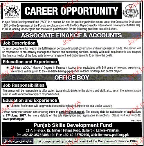 Punjab Skill Development Fund PSDF