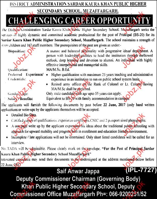 Sardar Kaura Khan Public Higher Secondary School SKKPHSS Job