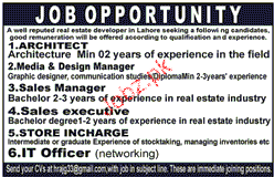 Architects, Media & Design Managers Job Opportunity