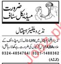 Nazeer Welfare Hospital NWH Jobs