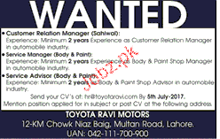 Customer Relationship Manager Job Opportunity