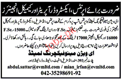 Exterwood Operators and Chemical Engineers Job Opportunity