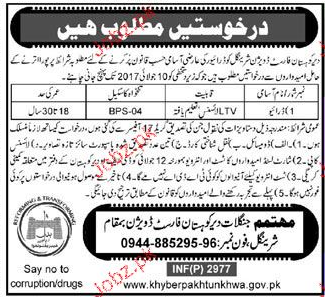 Forest Department Kohistan Division Position Vacant