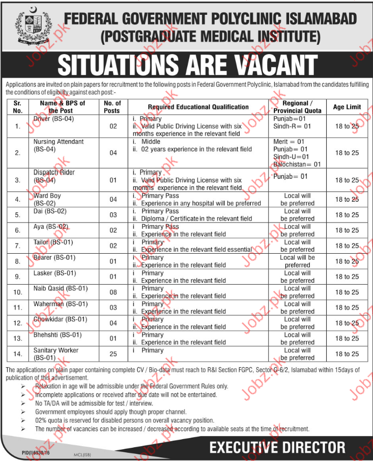 Clerical Jobs In Federal Government Poly Cilinic 2017
