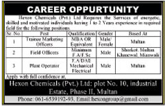 Hexon Chemicals Multan Jobs