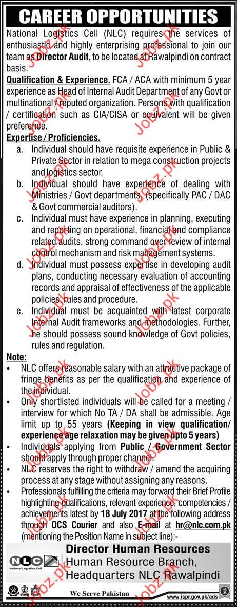 Director Audit Jobs In National Logistic Cell