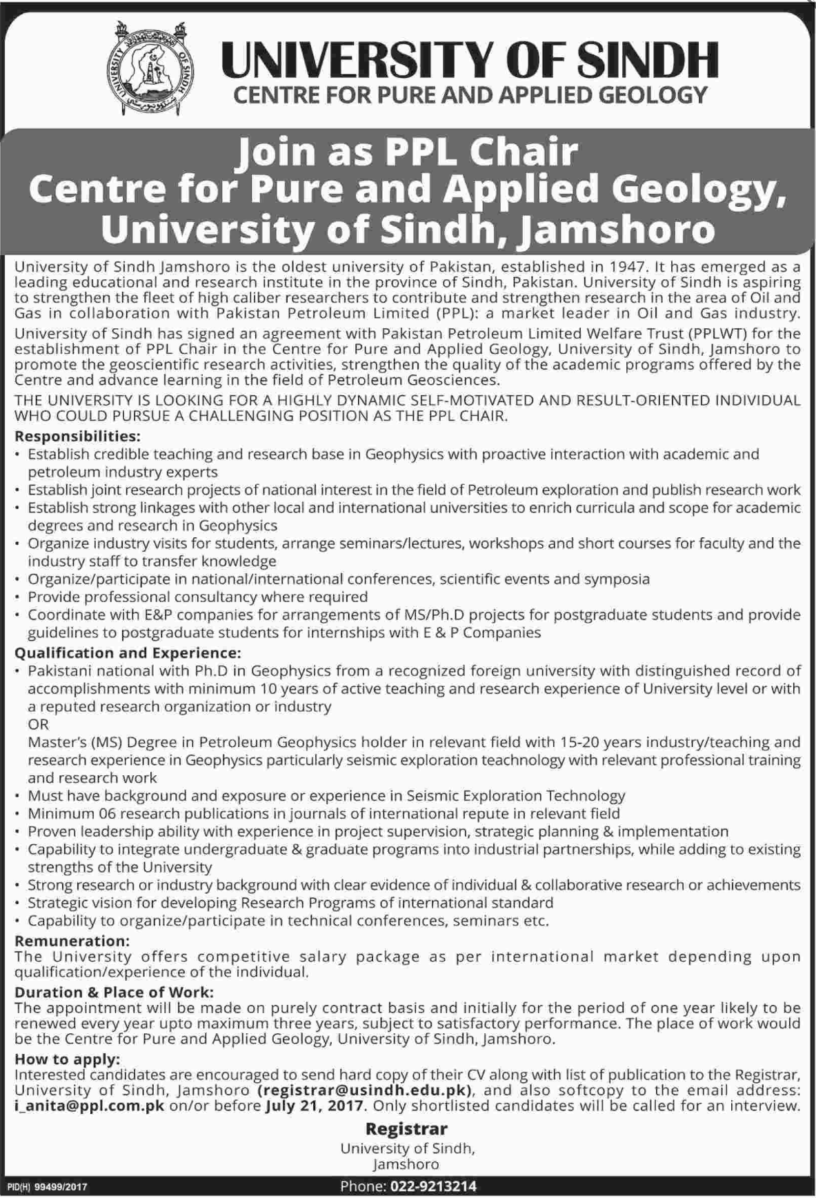 University of Sindh Jobs