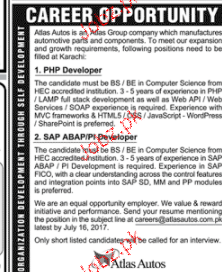 PHP Developers and SAP ABAP / P Developers Wanted