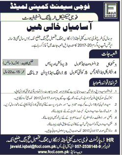 Fauji Cement Company Limited Job Open