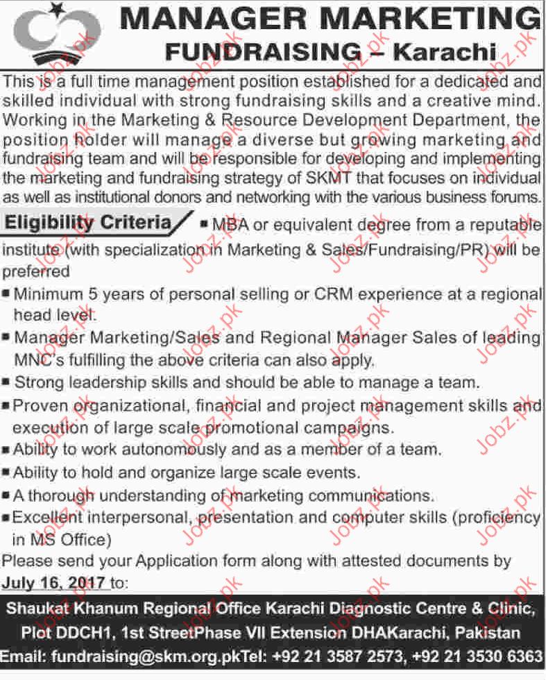 Manager Marketing Fundraising Jobs 2017