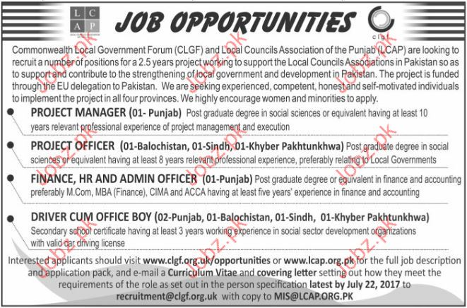 Project Manager Jobs In Commonwealth Local Government Forum