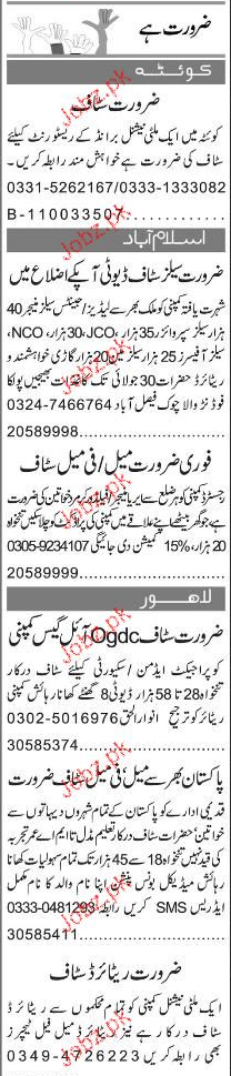 Sales Managers, Sales Supervisors Job Opportunity