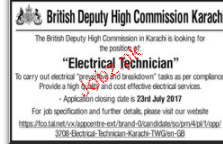 Electrical Technicians Job Opportunity