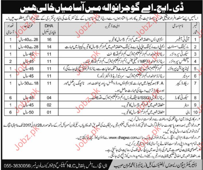 It Officer Required For Defence Housing Authority DHA