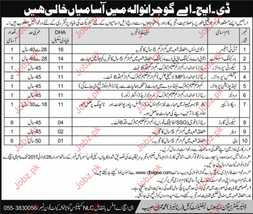 Marketing staff Required For Defence Housing Authority DHA