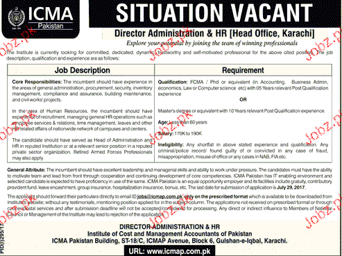 Institute of Cost and Management Accountant of Pakistan ICMA